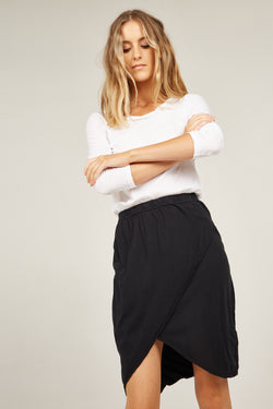 REEDS WRAP SKIRT - NOIR (FINAL SALE)