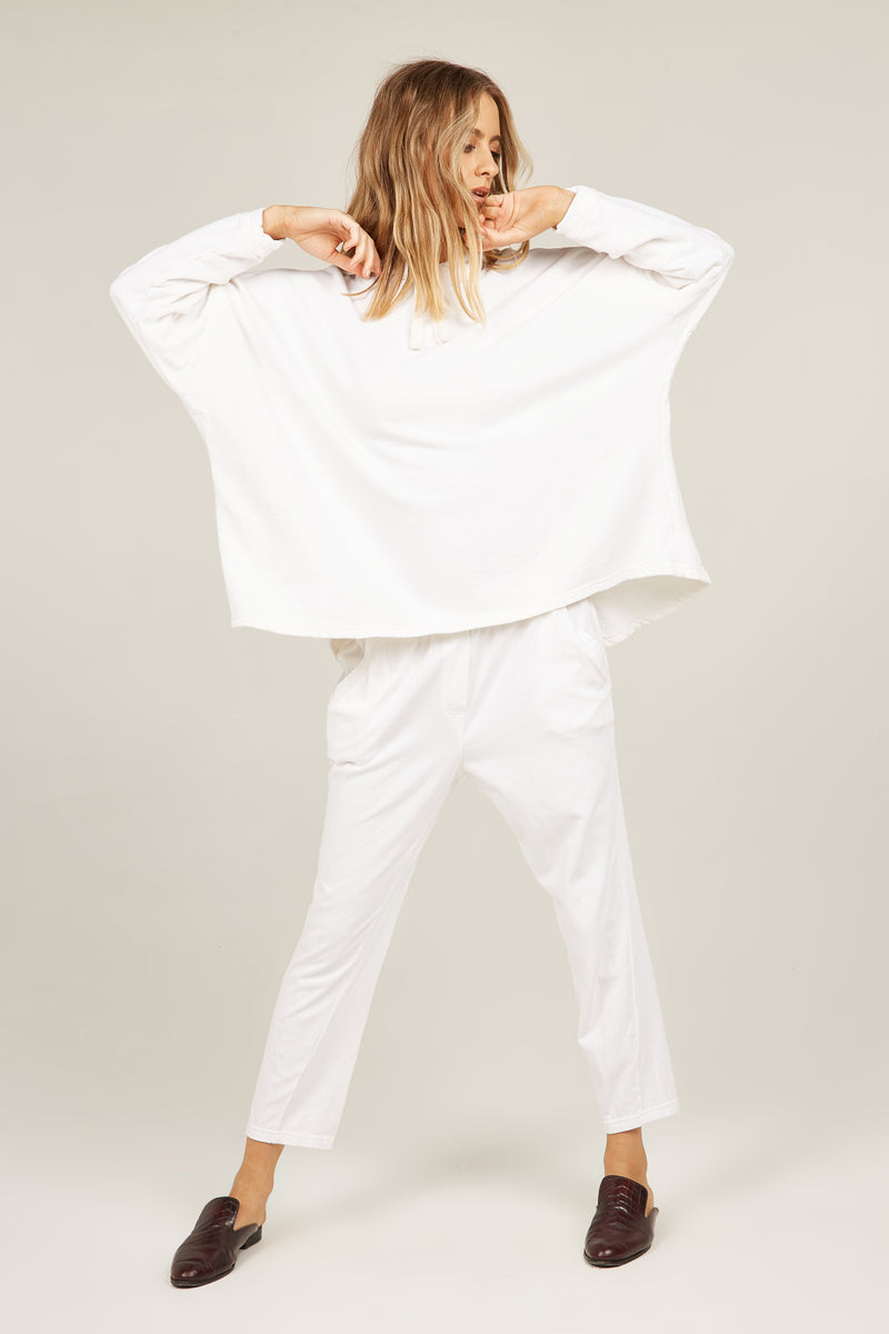 COZY TWISTY PANT - BLANC