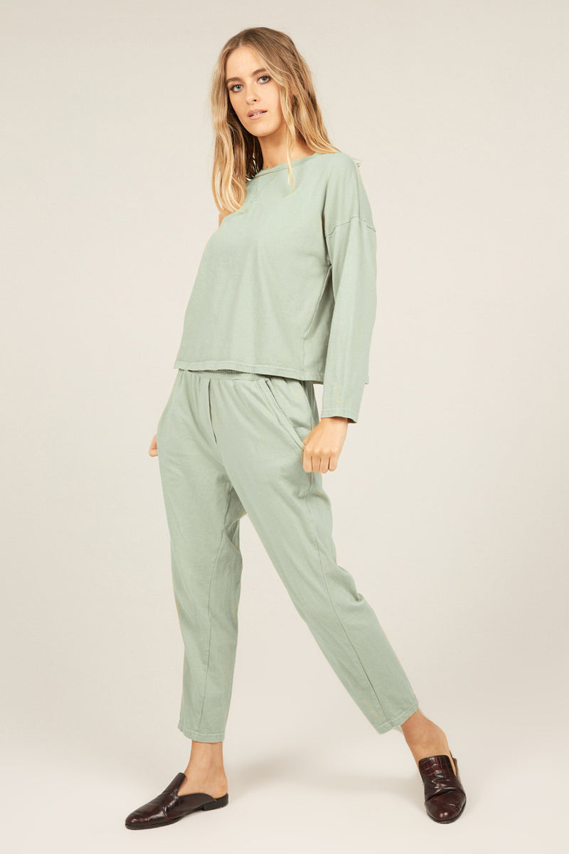 COZY TWISTY PANT - SEA MIST