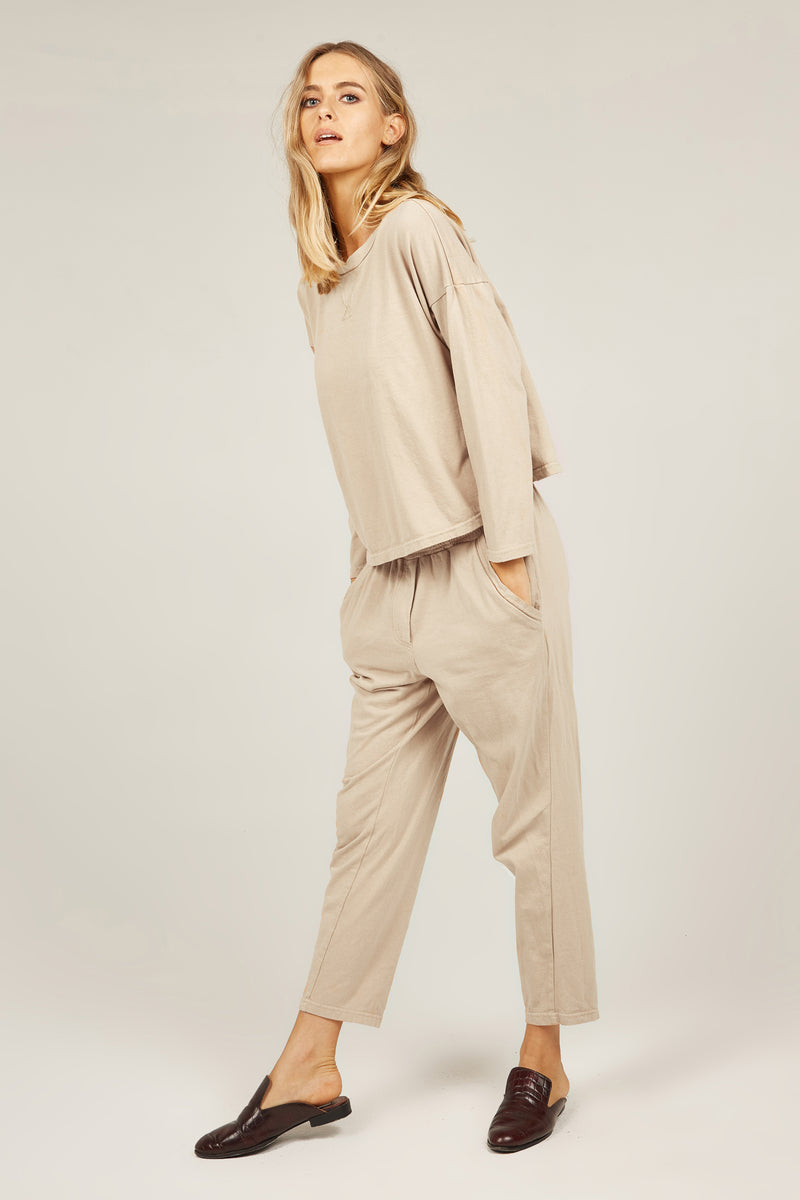 COZY TWISTY PANT - OATMEAL