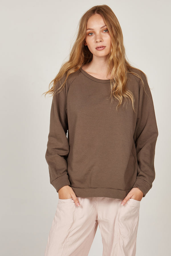 LOTUS RAGLAN JUMPER - WOODEN