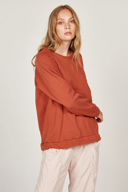 LOTUS RAGLAN JUMPER - TERRACOTTA