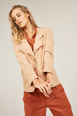 COZY BLAZER - CLAY