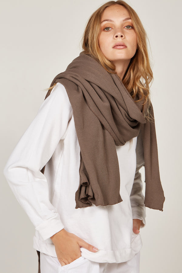 WAFFLE SCARF - WOODEN