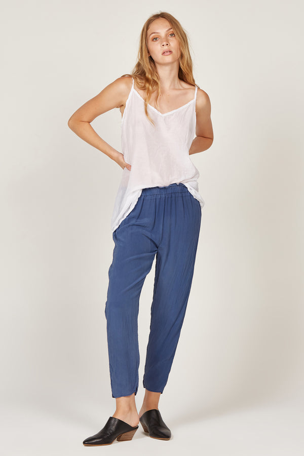 SILK PANT - NAVY (FINAL SALE)