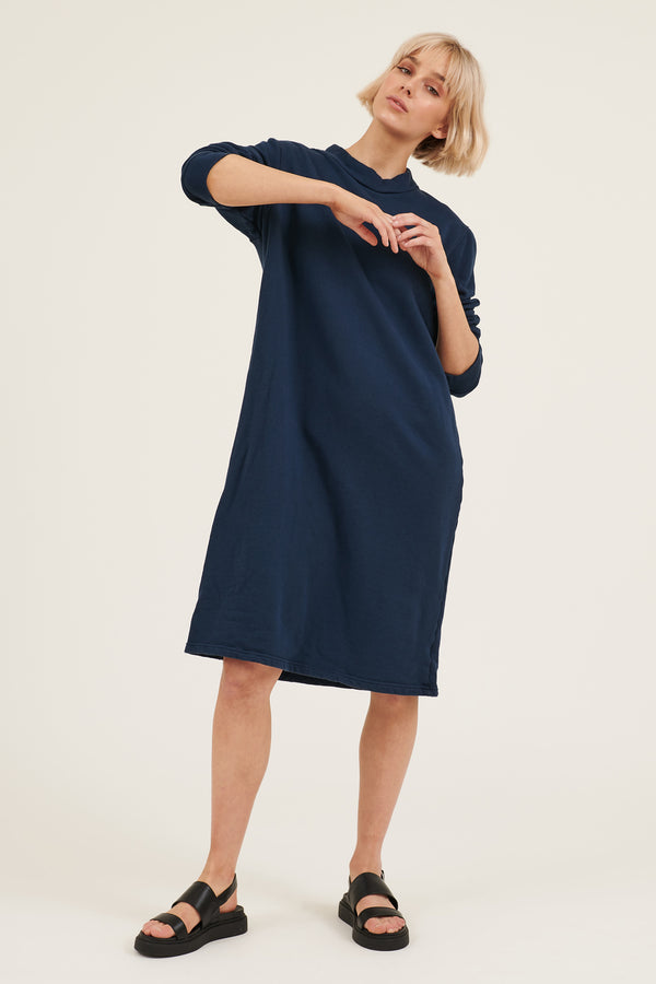 MOONIE JUMPER DRESS - DARK NAVY