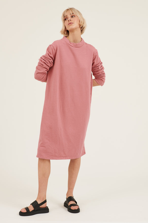 MOONIE JUMPER DRESS - LIPSTICK PINK