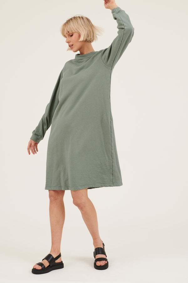 MOONIE JUMPER DRESS - SEA GREEN (PRE-ORDER)