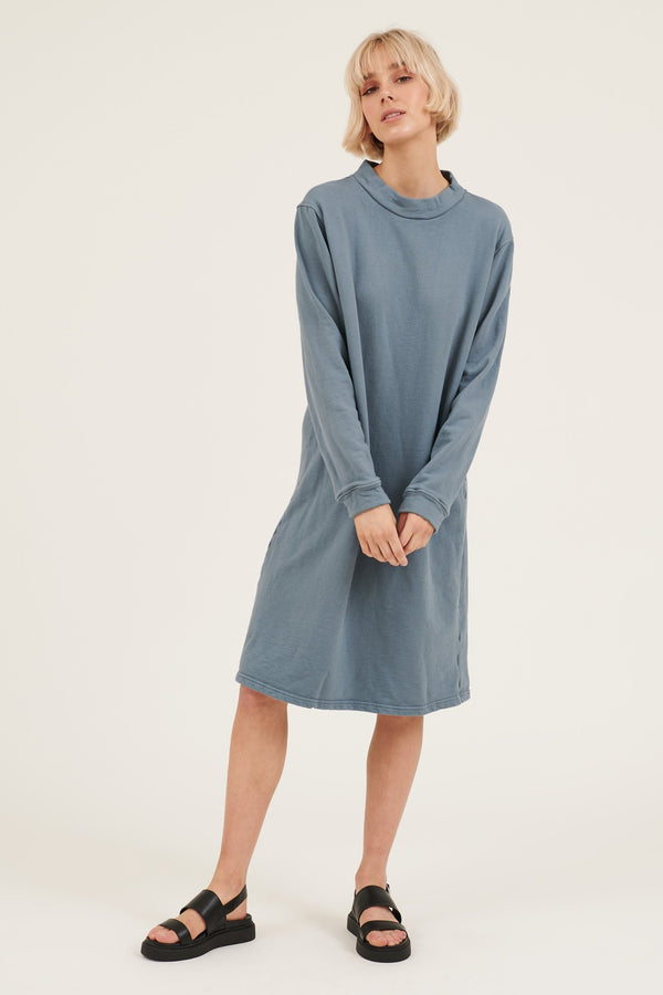 MOONIE JUMPER DRESS - BLUE MOON
