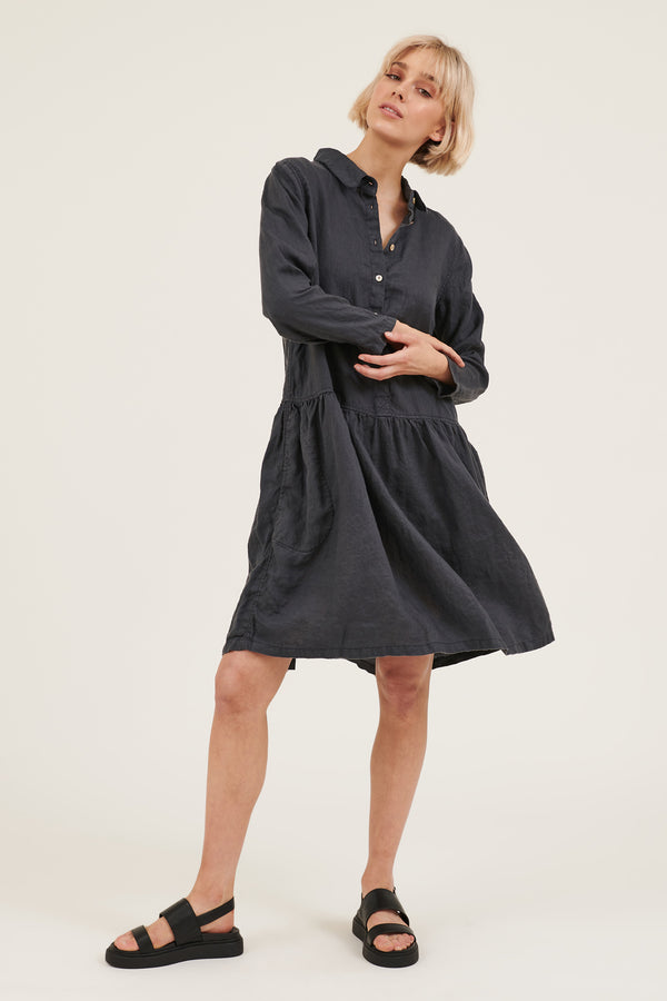 LIKO DRESS - FOSSIL (PRE-ORDER)