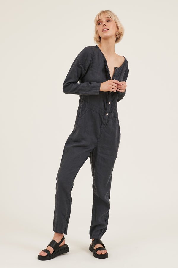 PARADISE JUMPSUIT - FOSSIL (PRE-ORDER)