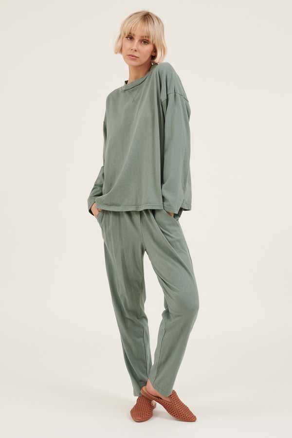 COZY TWISTY PANT - SEA GREEN (PRE-ORDER)