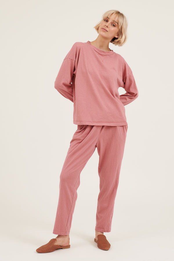 COZY TWISTY PANT - LIPSTICK PINK
