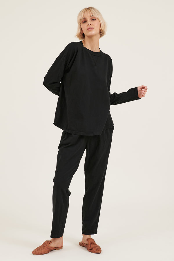 COZY TWISTY PANT - NOIR