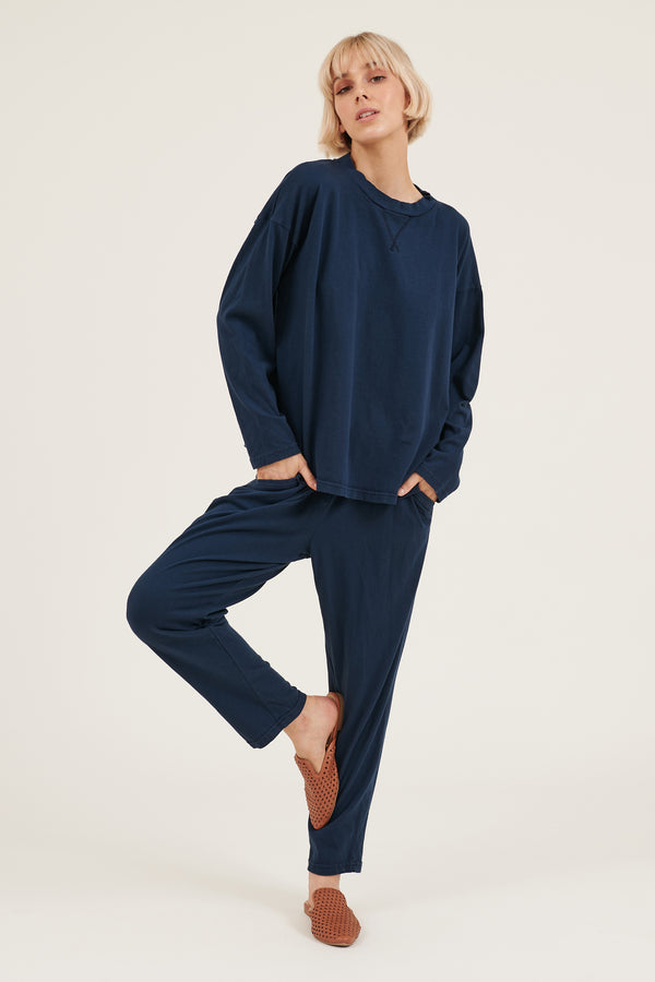 COZY TWISTY PANT - DARK NAVY (PRE-ORDER)