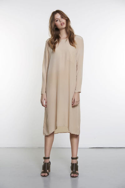 SLOUCHED DRESS - BONE