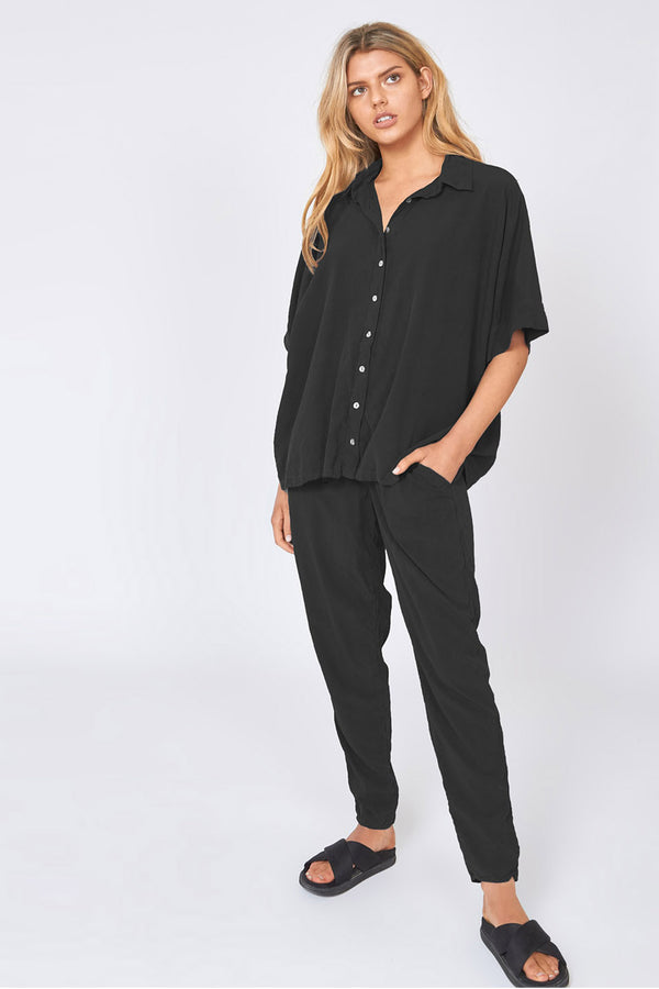 WISHY SHIRT - NOIR - SIZE 1 LEFT