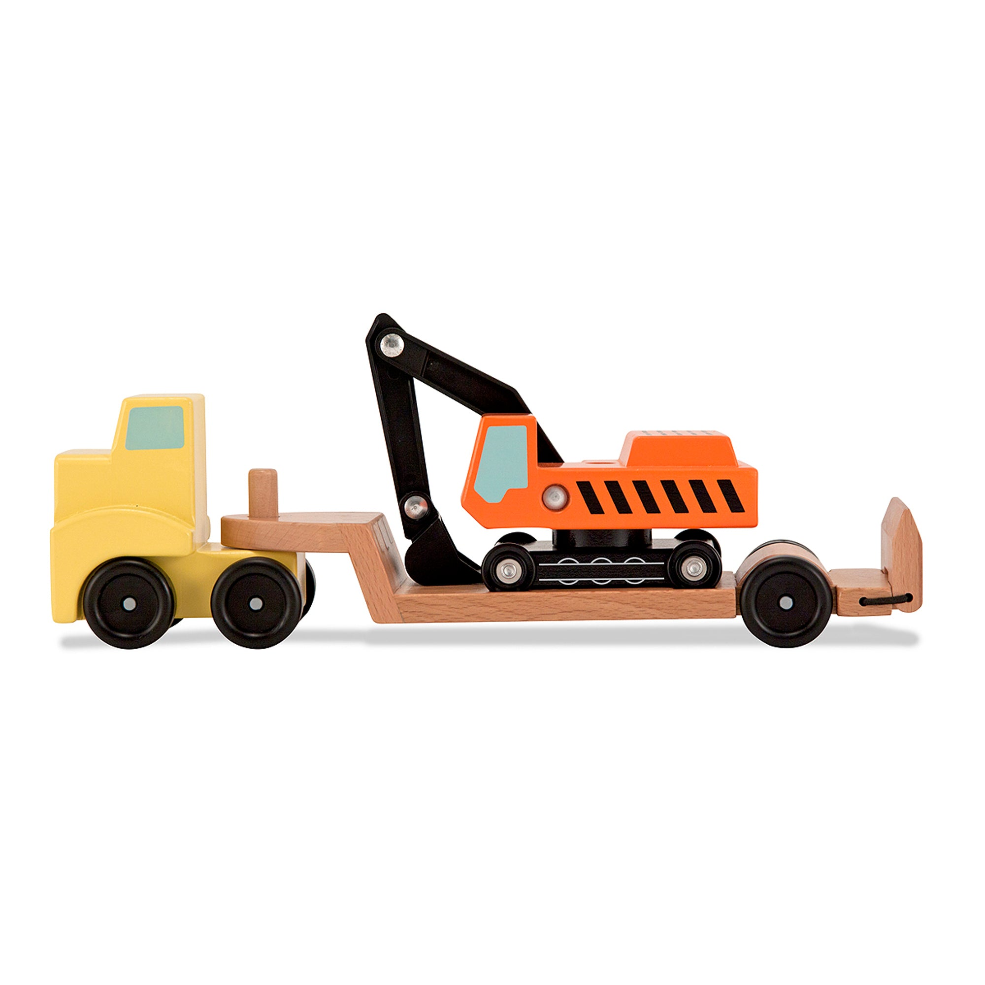 Trailer & Excavator Wooden Vehicle