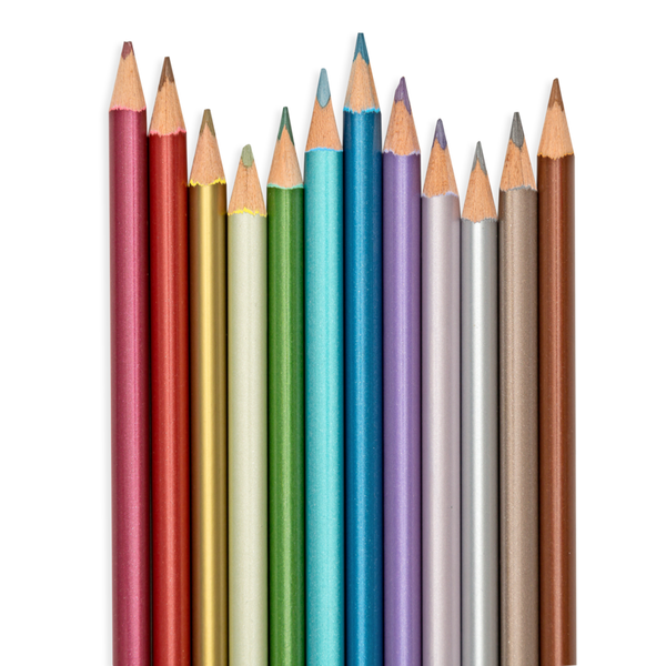 Modern Metallics Coloured Pencils (set of 12)