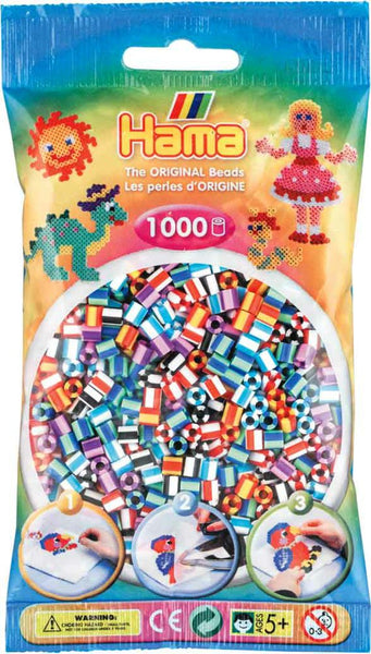 Hama Bead Striped Beads