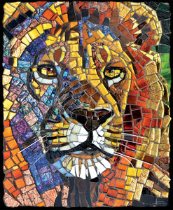 Suns Out 1000 Pc Stained Glass Lion