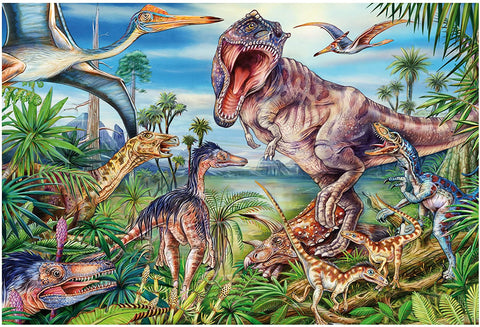 60 Pc Puzzle- Amongst the Dinosaurs