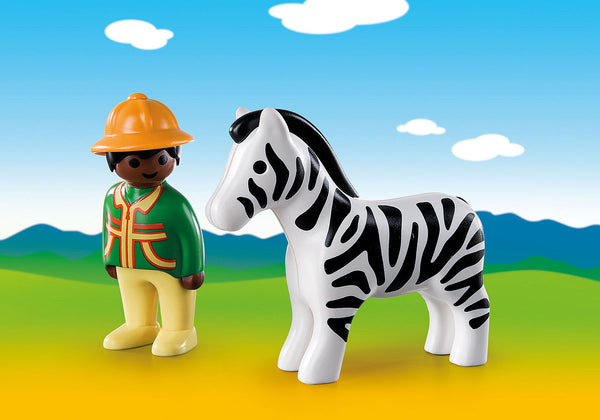 Boy with Zebra