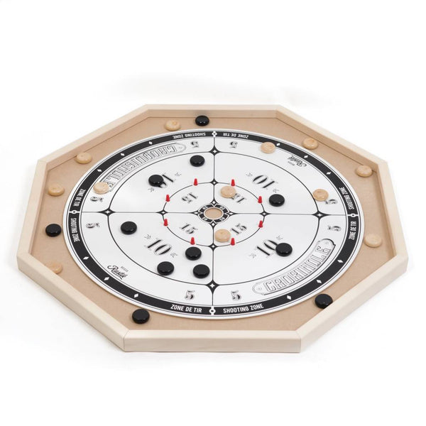 Crokinole Deluxe 2 in 1 Game (by Rustik, Made in Canada edition)