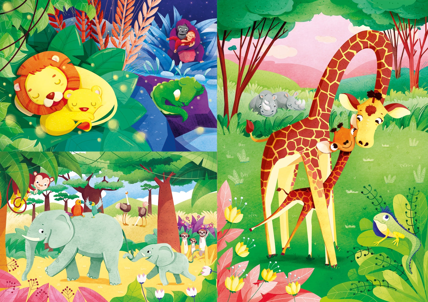 Jungle Friends (3x48pc)