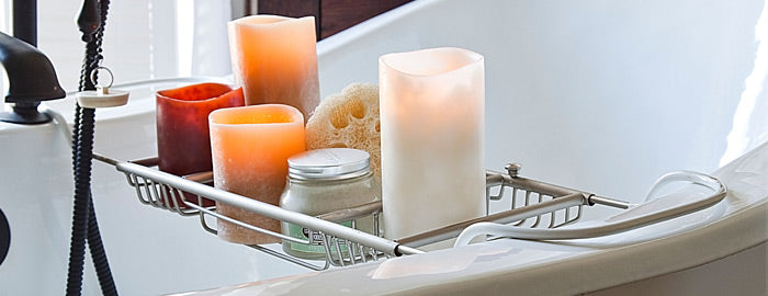 ... A Soothing Effect, Especially In Bathrooms. Whether You Are Preparing  To Take On Your Day Or Reflecting On The One That Has Just Passed, A  Candleu0027s Glow ...