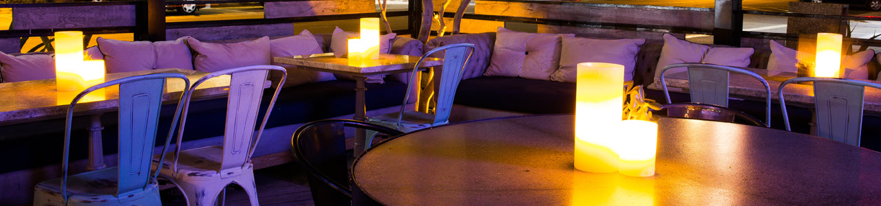 Rechargeable Flameless Candles for Restaurants