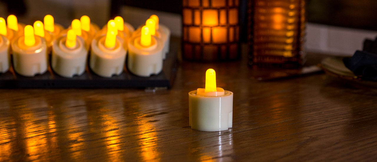 Classic Series Rechargeable Tea Light Collection