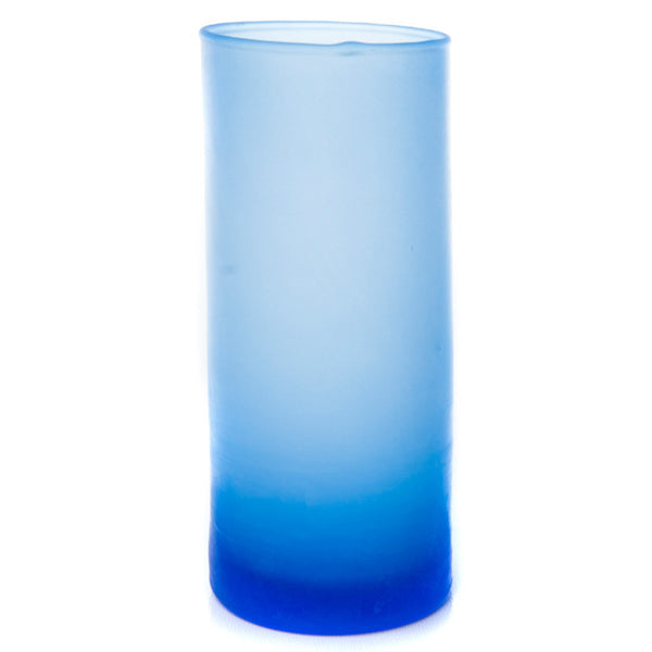 "Tall (4.75"") Frosted Glass Cylinder Candle Holder - The Amazing Flameless Candle"