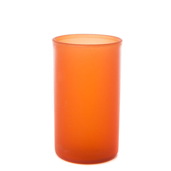 "Small (3.5"") Frosted Plastic Cylinder Candle Holder - The Amazing Flameless Candle"