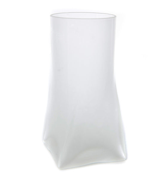 Frosted Glass Candle Holder with Square Bottom - The Amazing Flameless Candle