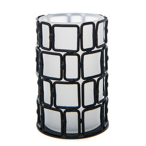 Grid Iron Acrylic Tea Light Holder (Case of 6)