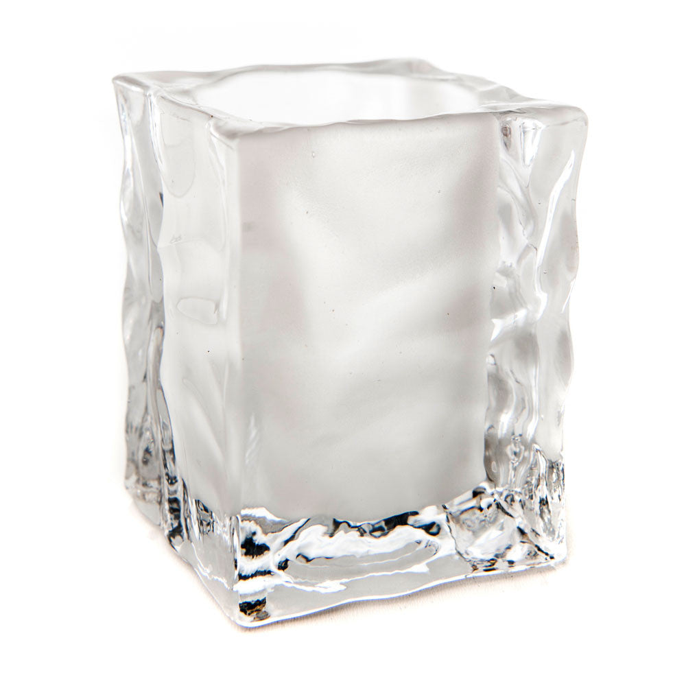 Ice Cube Glass Candle Holder - The Amazing Flameless Candle