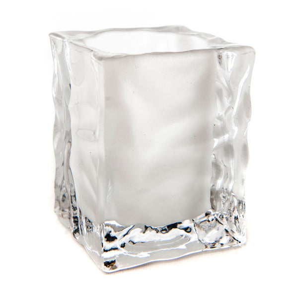 Ice Cube Glass Candle Holder (Case of 6) - The Amazing Flameless Candle