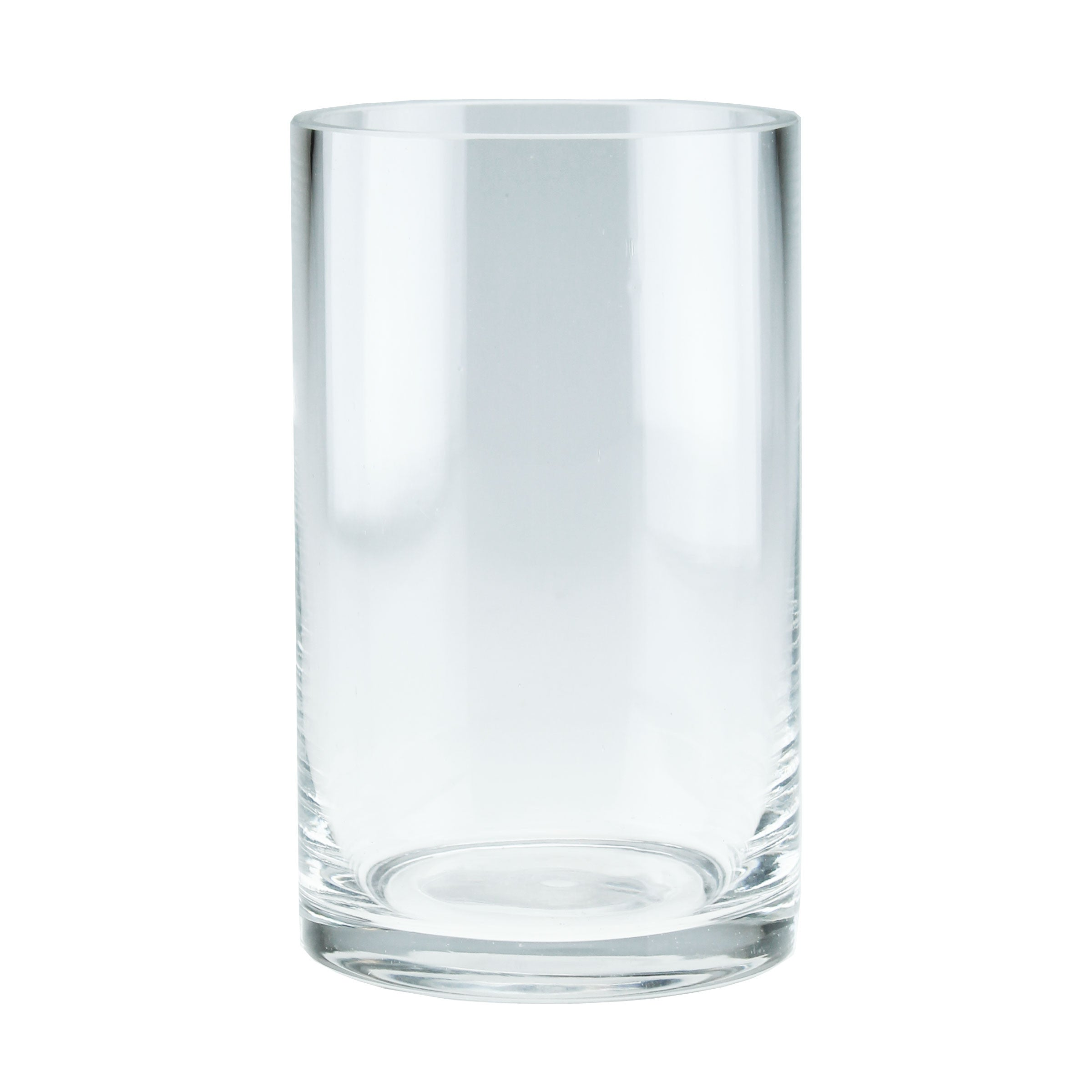 "3.5 x 6"" Clear Glass Candle Holder Vase"