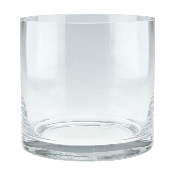 "6 x 6"" Clear Glass Candle Holder Vase"