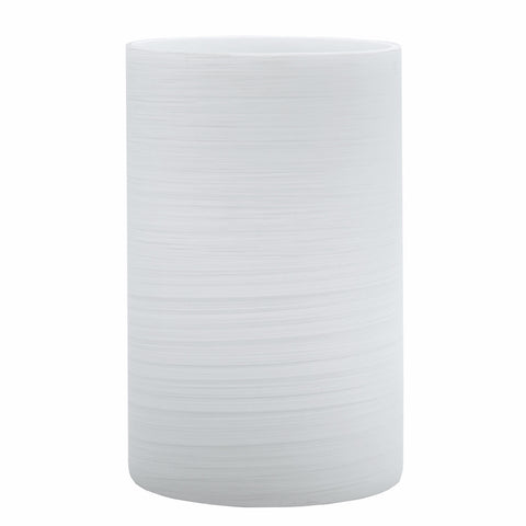 Brushed White Glass Candle Holder Vase