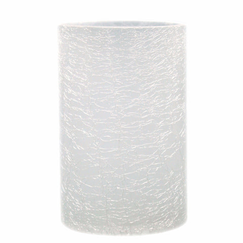 Crackled Glass Candle Holder Vase