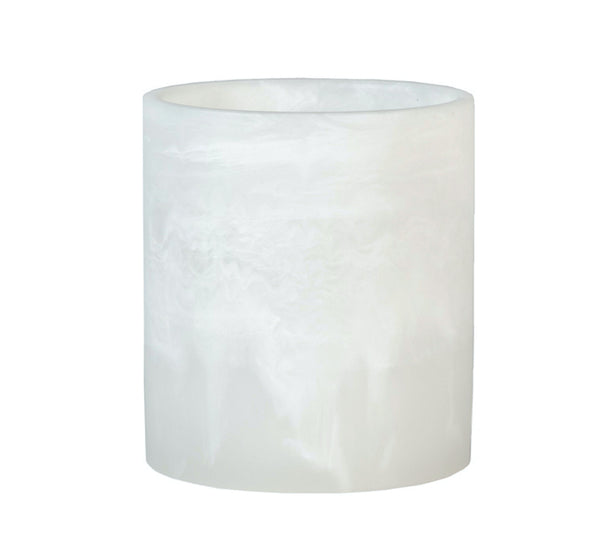 "3"" x 4"" White Textured Resin Holder (Case of 6) - The Amazing Flameless Candle"