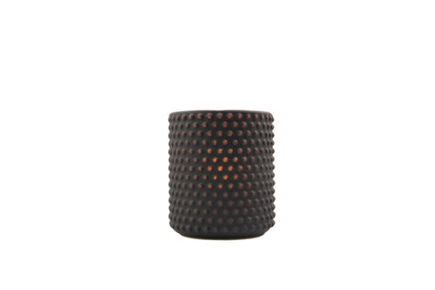 3 x3.5 Dot Pattern Frosted Holder-Orange - The Amazing Flameless Candle