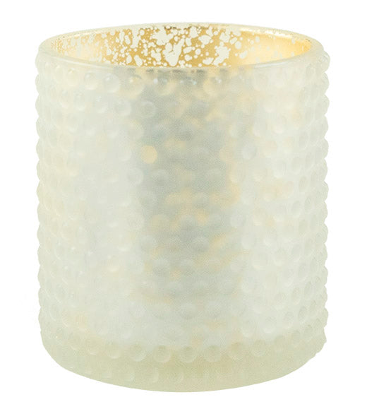 3 x 3.5 Dot Pattern Frosted Holder-White - The Amazing Flameless Candle