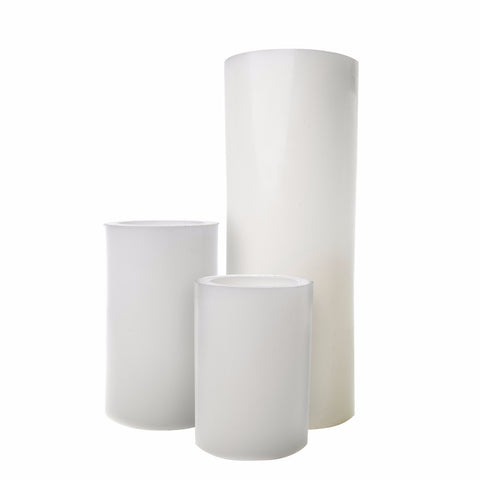 Smooth White Wax Luminaries (Case of 6)