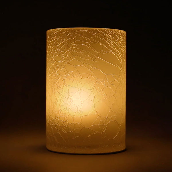 Crackle Glass Holder (Case of 6) - The Amazing Flameless Candle