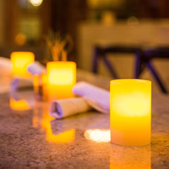 Smooth White Wax Luminaries (Case of 6) - The Amazing Flameless Candle