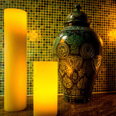 Gold Artisan Wax Luminaries (Case of 6) - The Amazing Flameless Candle
