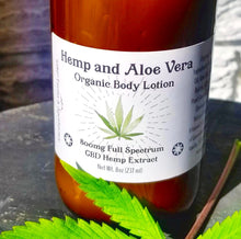 Load image into Gallery viewer, Hemp & Aloe Vera - Organic CBD Body Lotion 800mg